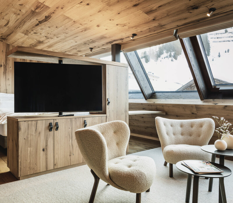 Junior Suite mit Privat-Sauna und Panoramaaussicht in Warth